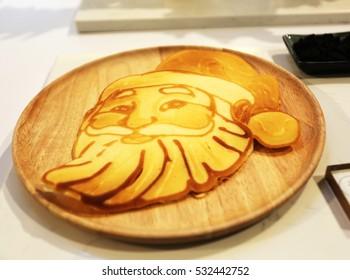 Pancake Santa Claus