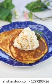 Pancake using the bean-curd refuse