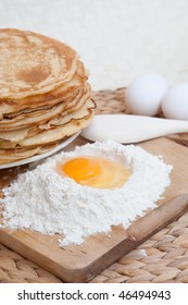 Pancakes and eggs