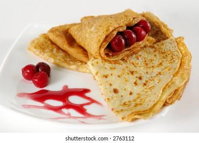 Pancakes and jam