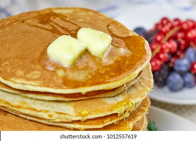 Pancake images stock photos vectors shutterstock pancakes with melted butter and honey ccuart Images