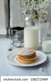 pancakes with milk for breakfast