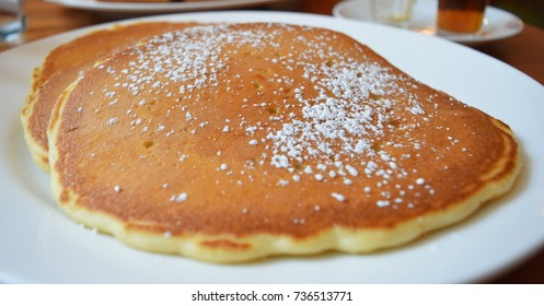 pancakes on plate for breakfast