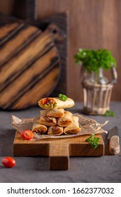 pancakes stuffed with meat and vegetables