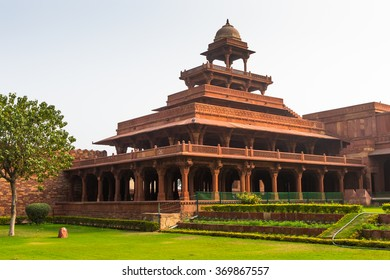 Panch Mahal at the Fatehpur Sikri, a city in the Agra District of Uttar Pradesh, India. UNESCO World Heritage site.