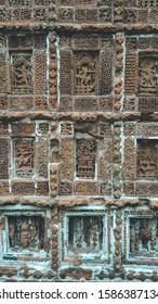 Pancha Chura temple in Bishnupur, West Bengal, India shot on October, 2019....