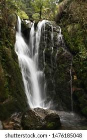 Panchpulla Waterfalls in Dalhousie,  captured with slow shutter speed, Handheld