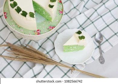 Pandan Coconut cream Cake