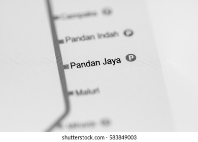 Pandan Jaya Station. Kuala Lumpur Metro map.