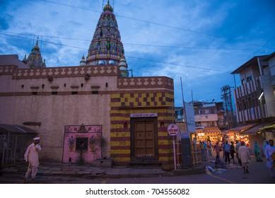 Pandharpur / India 25 August 2017 The north door of Vitthal Rukmini Temple at Pandharpur city in Solapur district  Maharashtra  India