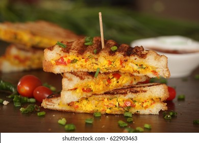 Paneer bhurji sandwich is a tasty paneer based dish made with cottage cheese. Sandwiches are healthy filling breakfast options for kids and also paneer is a good source of protein.