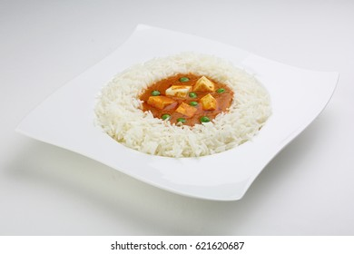 Paneer Makhani and rice
