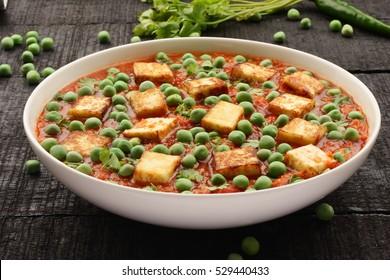 Paneer matar sabji-Indian curry