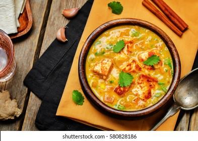 Paneer Tikka Masala. Indian cuisine. toning. selective focus