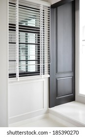 Panel design, window and wood blind