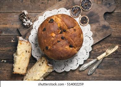 Panettone. Tradidional Italian Christmas Cake