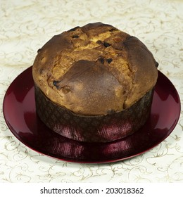 Panettone, a typical christmas cake coming from Milan (Italy). Sometimes served with a sauce based in Mascarpone cheese.