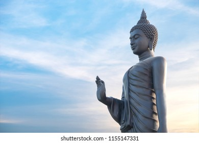 Pang Buddha Image Style Thai Buddha Statue Visakha Bucha day is the most important Buddhist holiday