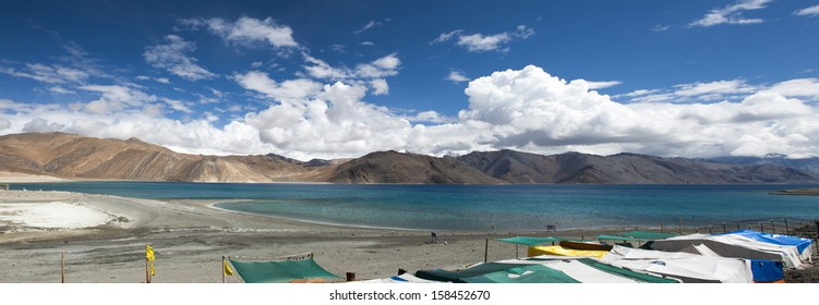 Pangong tso or pangong lake in leh ladakh India