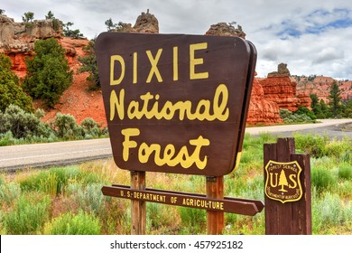 Panguitch, Utah - June 30, 2016: Red Canyon at Dixie National Forest in Utah, United States.
