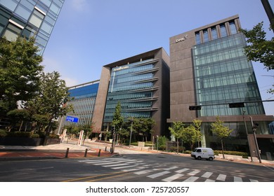 Pangyo Techno Valley in Seongnam, South Korea-Sep. 30, 2017:There are 1300 companies which high-tech R&D complex centered on IT, BT, CT, NT and convergence technology.Those are DHK, Soulbrain.