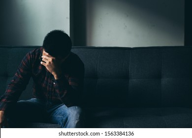 panic attacks alone young man sad fear stressful depressed emotion.crying begging help.stop abusing domestic violence,person with health anxiety,people bad frustrated exhausted feeling down