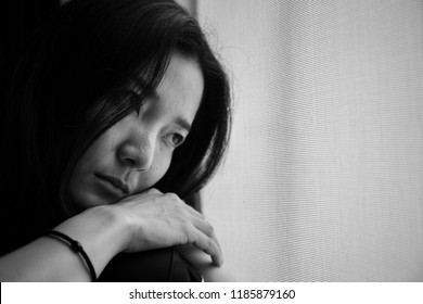 panic attacks young girl in sad and fear stressful depressed emotional.crying begging help.concept for stop abusing violence in women,person with anxiety,people in feeling down