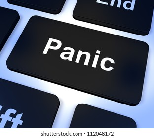 Panic Computer Key Shows Trauma Stress And Hysteria