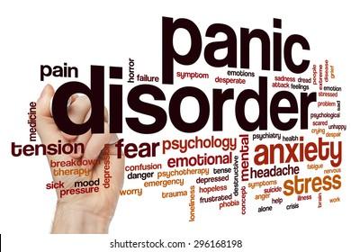 Panic disorder word cloud concept