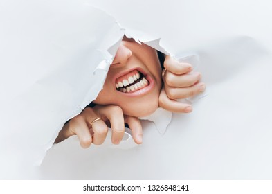 Panic on the woman's face. Anger and despair. The concept of torment, cry, pain and scream. Discounts, buyer, shopping, black friday.