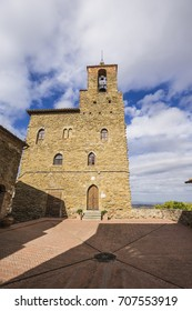 Panicale, an ancient medieval town in the province of Perugia in Italy. Podesta's Palace.