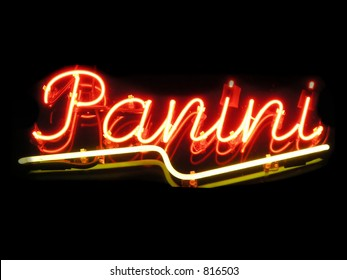 Panini bread neon sign