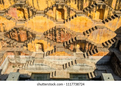 The Panna Meena stepwell near the Amber Palace in Rajasthan, India