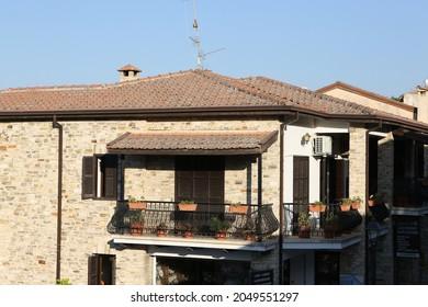 PANO LEFKARA, CYPRUS - AUGUST 5, 2021: Pano Lefkara village, Cyprus. Architecture, Cyprus architectural landmark, monument. Pano Lefkara cityscape, scenic nature, scenery. Pano Lefkara view. House