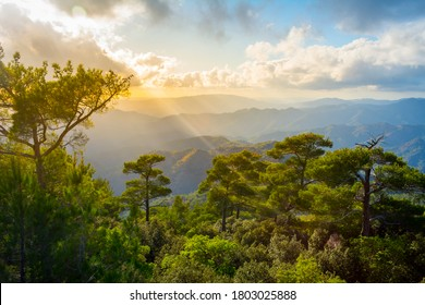 Pano Platres in Troodos mountains, Cyprus. Travel and tourism.