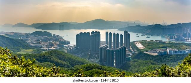Pano view of Tseung Kwan O, Hong Kong
