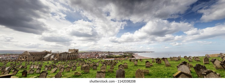 Panoorama of Whitby church in North Yorkshire