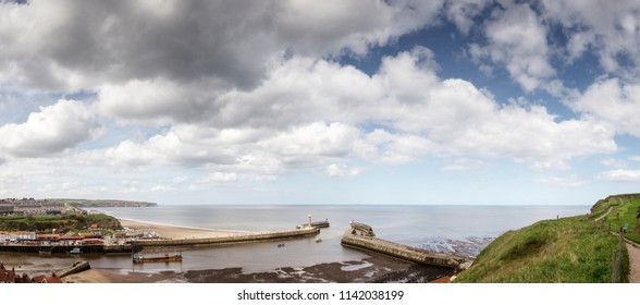Panoorama of Whitby town in North Yorkshire