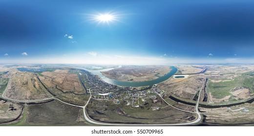 Panorama 360 degree air.