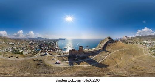 Panorama 360 degree.  temple, monastery, church