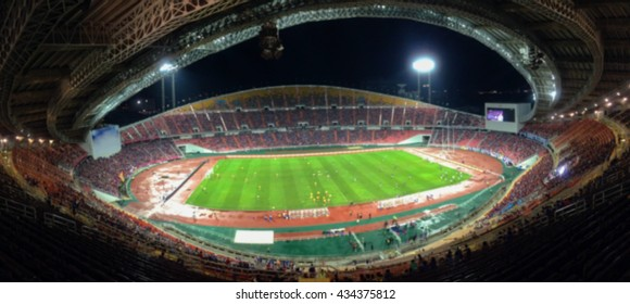 panorama of Abstract blurred photo of fan sport at stadium, sport background concept