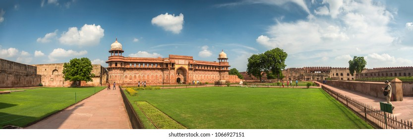 Panorama of Agra Fort. India