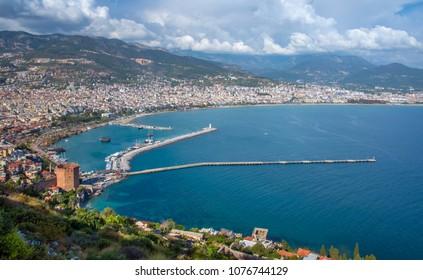 Panorama of Alanya, Turkey