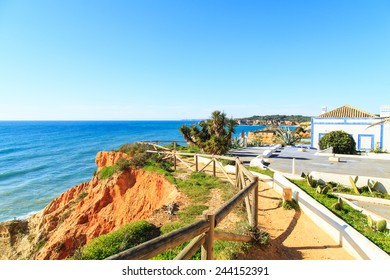 A panorama of Albufeira in Algarve region, Portugal, Europe