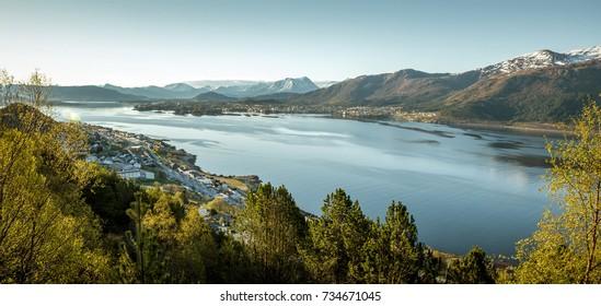 Panorama of Alesund, Norway
