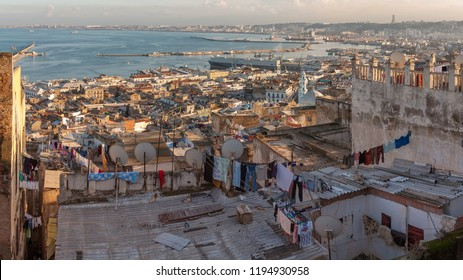 Panorama of Aligiers from old town casbah