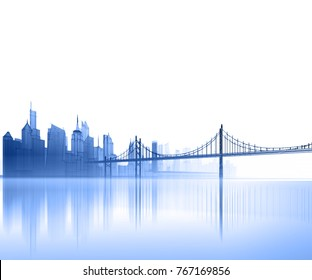 panorama, architecture abstract, 3d illustration