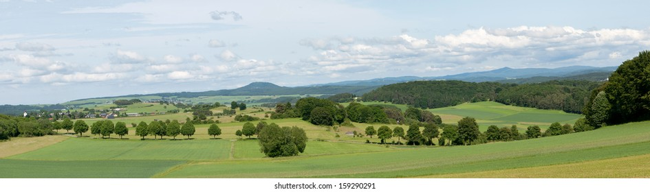 Panorama of the area of Alendorf in the Eifel Germany