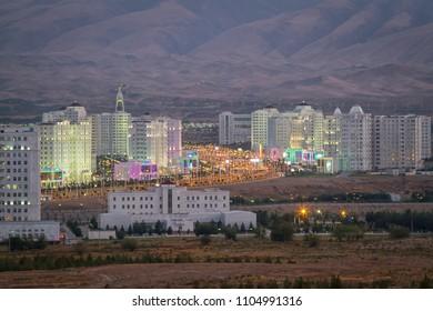 Panorama of Ashgabat, Turkmenistan