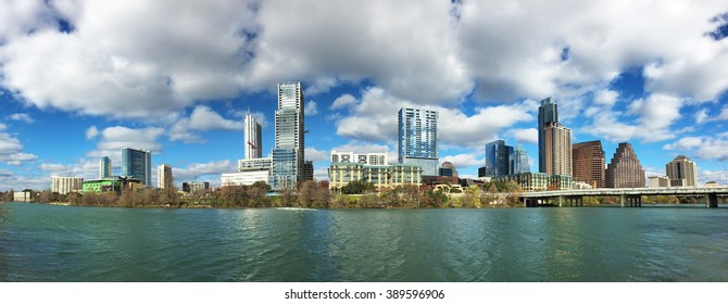Panorama of the Austin, Texas, skyline